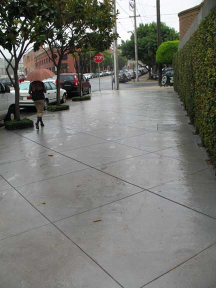 Front city sidewalk