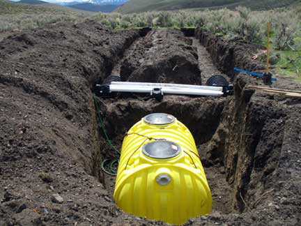 Septic system…
